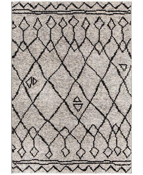 Palmetto Living ORI416183 Casablanca Tribal 01 Silver Tone 6'7 x 9'6 Area Rug