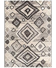 """Casablanca Tribal 04 Multigray 6'7"""" x 9'6"""" Area Rug"""