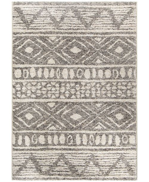 "Palmetto Living Casablanca Tribal 07 Silver Tone 5'3"" x 7'6"" Area Rug"