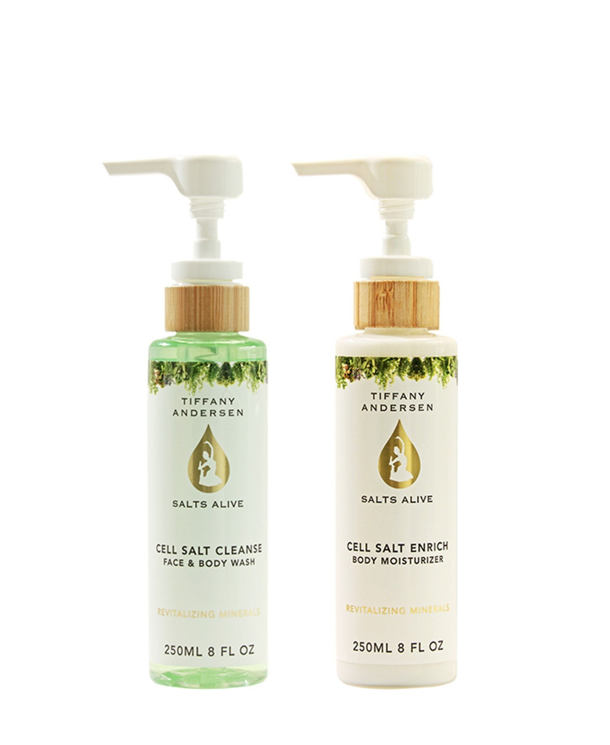 Cell Salt Cleanse Body Wash and Enrich Lotion 2 Piece feat. Hemp Seed Oil