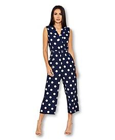 Women's Polka Dot Culotte Jumpsuit