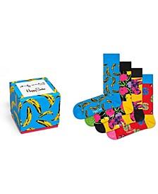 Andy Warhol Banana 4 Pack Gift Box Sock