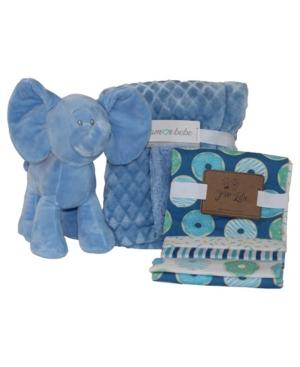 3 Stories Trading Amor Bebe Diamond Plush Blanket Baby Gift Set, 6 Piece