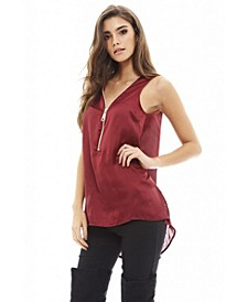 Women's Chunky Zip Detail Top
