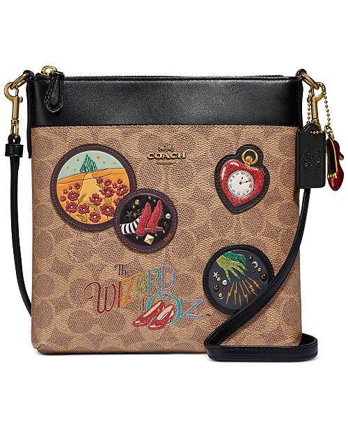 Coach Coated Canvas Signature Wizard Of