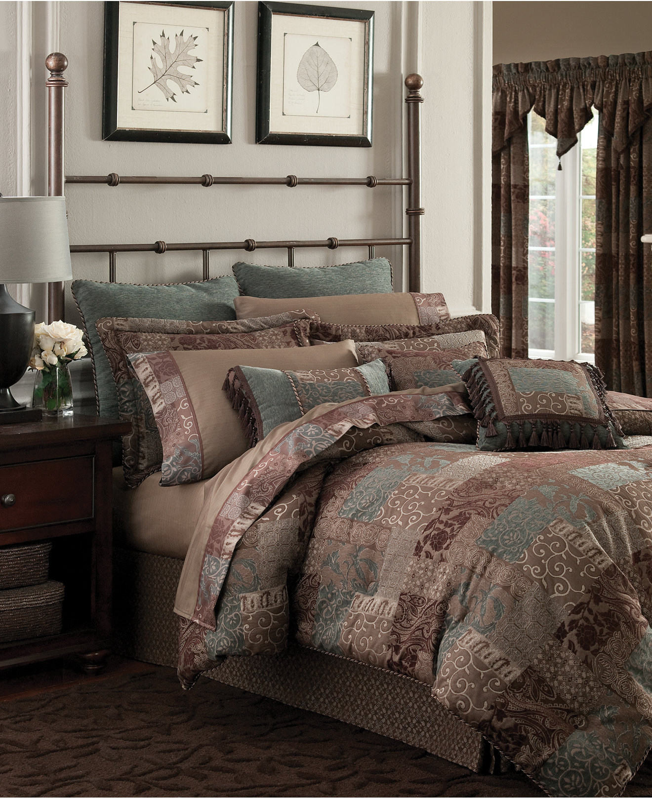 Brown bedding sets queen - Croscill Galleria Brown Bedding Collection Bedding Collections Bed Bath Macy S