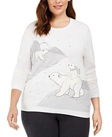 Plus Size Lake Geneva Polar Bears Sweater