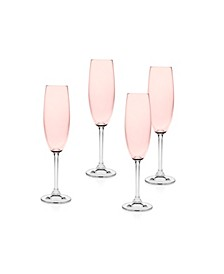 Meridian Blush Flutes - Set of 4