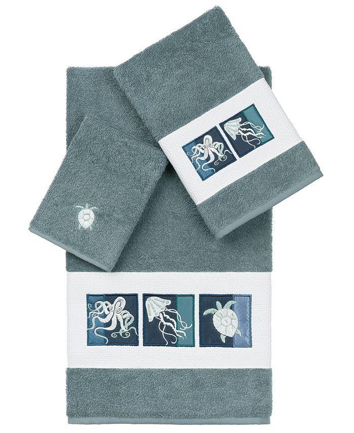 Linum Home - 100% Turkish Cotton Ava 3-Pc. Embellished Towel Set