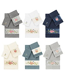 100% Turkish Cotton Rebecca 3-Pc. Embellished Towel Set