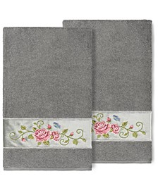 100% Turkish Cotton Rebecca 2-Pc. Embellished Bath Towel Set