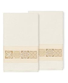 100% Turkish Cotton Vivian 2-Pc. Embellished Bath Towel Set