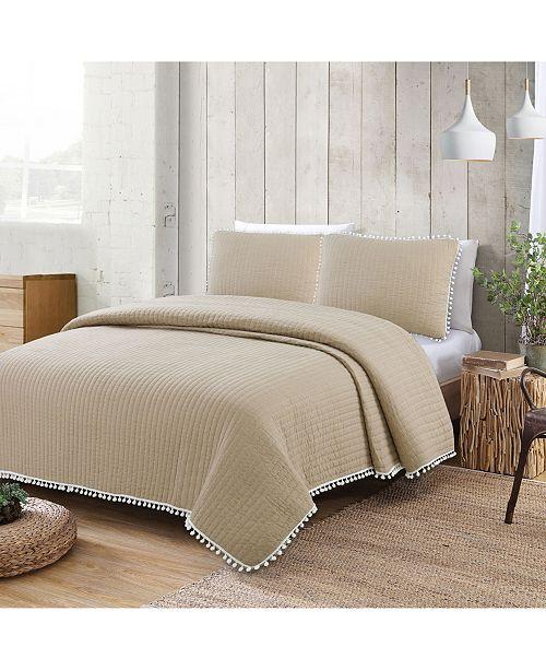 American Home Fashion Estate Costa Brava 3 Piece Full/Queen Quilt Set