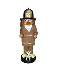 "14"" Fireman and Dalmation Nutcracker"