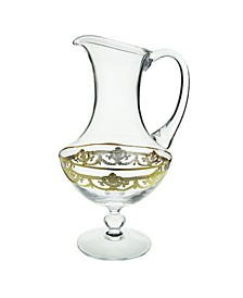 Water Pitcher with 14k Gold Artwork - Traditional Design