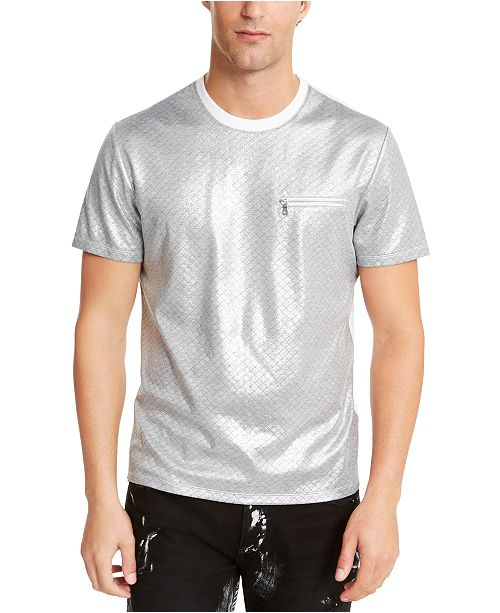 INC International Concepts INC Men's Wipers Metallic T-Shirt, Created For Macy's