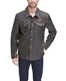 Levi's® Men's Faux Leather Shirt Jacket