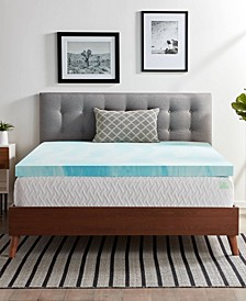 "3"" Gel Swirl Memory Foam Mattress Topper"