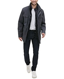 Men's Mélange Textured Utility Jacket