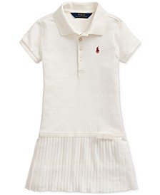 Toddler Girls Pleated Stretch Mesh Polo Dress