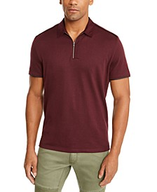 INC Men's Anido Zip Polo Shirt, Created For Macy's