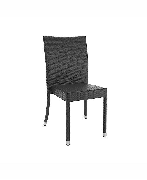 Enjoyable Park Terrace Weave Patio Dining Chairs Set Of 4 Spiritservingveterans Wood Chair Design Ideas Spiritservingveteransorg