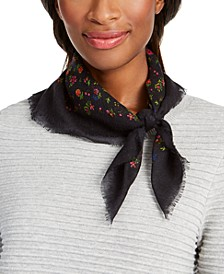 Ditzy Floral Wool Square Scarf