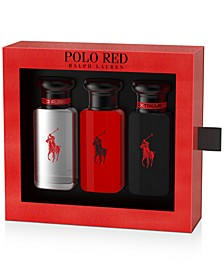 Men's 3-Pc. Polo Red Travel Set