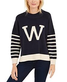 Varsity Striped W Sweater
