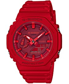 Men's Analog-Digital Red Resin Strap 45.4mm