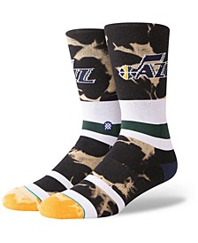 Utah Jazz Acid Wash Crew Socks