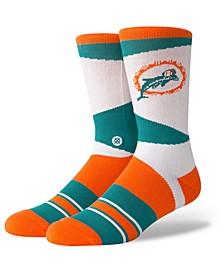 Miami Dolphins Retro Crew Socks