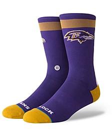 Baltimore Ravens Spirit Strip Crew Socks