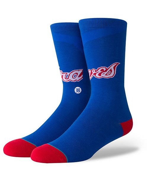 Stance Atlanta Braves Coop Jersey Crew Socks