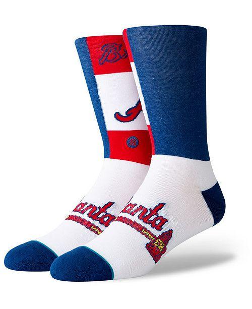 Stance Atlanta Braves Pop Fly Crew Socks