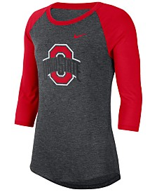 Nike Women's Ohio State Buckeyes Logo Raglan T-Shirt