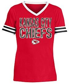 Big Girls Kansas City Chiefs Sequin Stripe T-Shirt