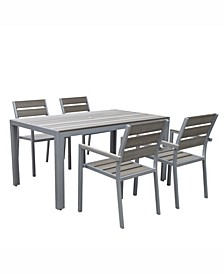 Gallant 5 Piece Sun Bleached Outdoor Dining Set