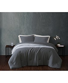 Color Block Jersey King Comforter Set