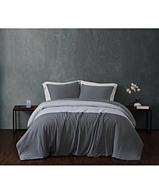 CLOSEOUT! Color Block Jersey King Duvet Set