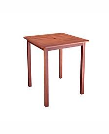 Distribution Miramar Hardwood Outdoor Bar Height Table