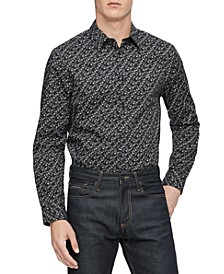 Men's Printed Slim-Fit Shirt