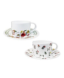 Language of Flowers Cups & Saucers - Set of 2