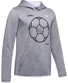 Boys' Armour Fleece® Soccer Logo Hoodie