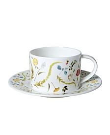 Scandinavian Floral Cup Saucer