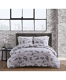 Garment Washed Camo King Comforter Set