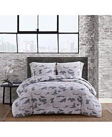 Garment Washed Camo King Comforter Set
