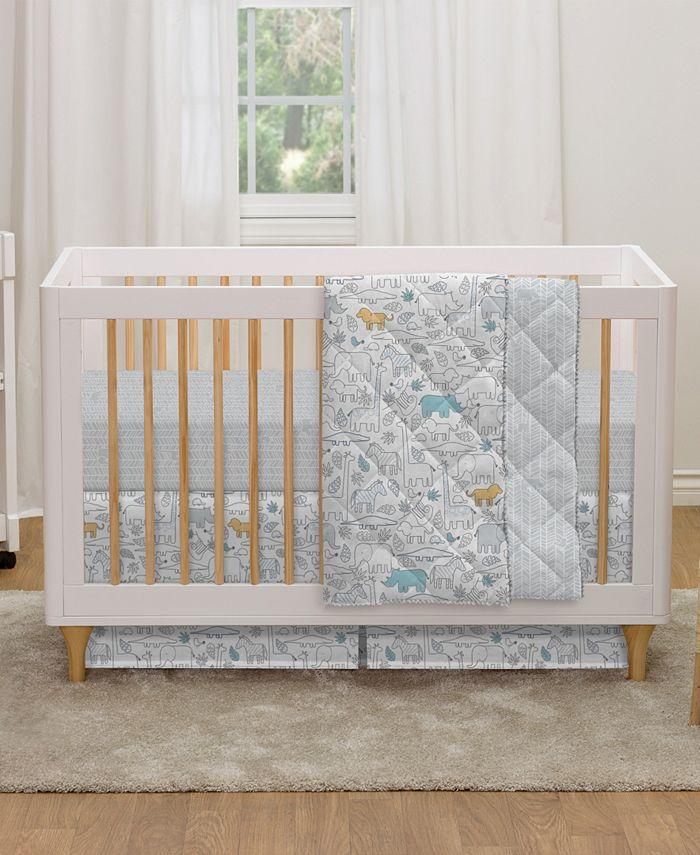 Lolli Living - Safari 4-Piece Crib Bedding Set