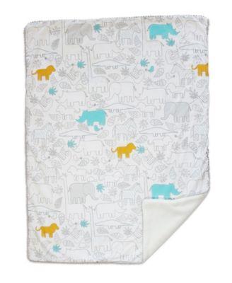 Safari Sherpa Lined Baby Blanket