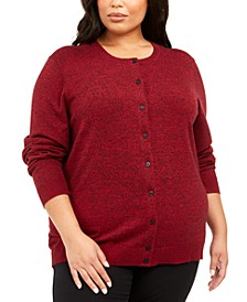 Plus Size Marled Fine Gauge Cardigan, Created for Macy's